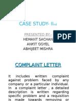 Complaint Letter- Hemant
