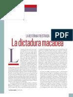 La Reforma Frustrada, La Dictadura Macabea, de Enrique Serna