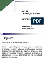 NIC 33 Utilidad por acción
