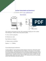 Torsion Spring Calculator and Formula