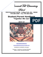 2013-2014 stonewall tell es student-parent handk