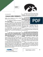 Coach Ferentz - 8 27 13