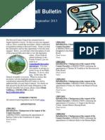 September 2013 Legislation Edition