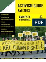 Amnesty International Canada Fall 2013 Activism Guide