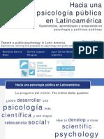 CIP2013 - Simposio Psicologia Publica (Introduccion)