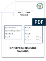 ERP Final Project Superior University