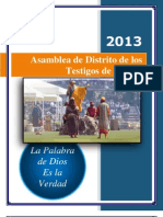 Notas de Asamblea de Distrito 2013