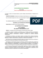 Ley de Productos Organicos