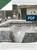 Cartilla Nº1 Planes departamentales de agua