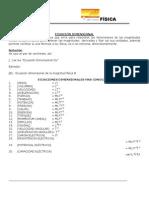 Ecuaciones Dimensionales,Formulas y Ejercicios.