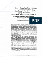 1979 - Persinger - Studies (1973-1978) on the Biological Effects of Low and Extremely Low Frequency Electromagnetic Field - Biometerology