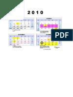 Calendario 2010 e 2011