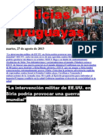Noticias Uruguayas Martes 27 de Agosto Del 2013