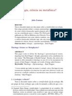 Teologia, ciencia ou metafísica