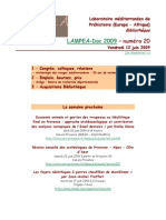 LAMPEA-Doc 2009 – numéro 20 / Vendredi 12 juin 2009