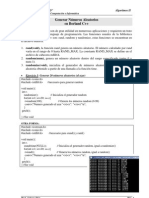 Generar Random en Borland C++ -Ejercicios