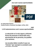 El Extensionismo Rural Nuevas Oportunidades. AMR 2013