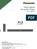 Panasonic DMP-BD75 Owners Manual Blu-Ray Player