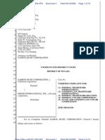 SOHMER Trademark Infringement Complaint