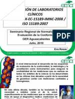 Norma 15189 de Un Lab Clinico
