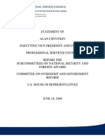 June 2009 PSC's Alan Chvotkin testimony re Wartime Congrating Commission interim findings
