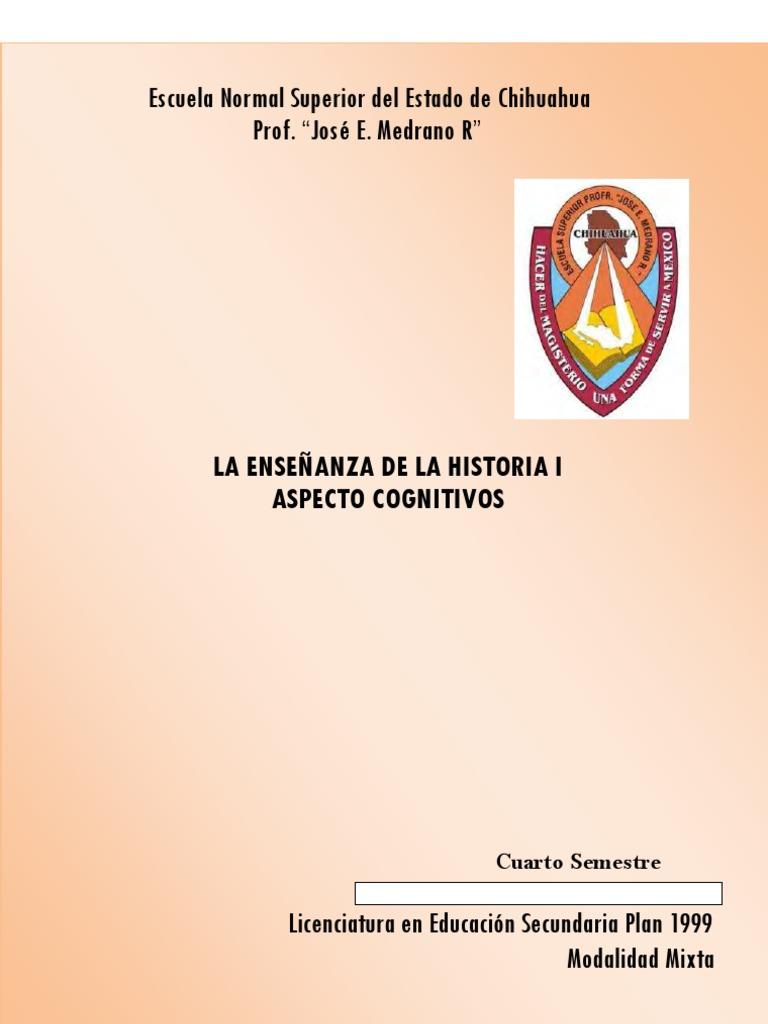 f037fa9c9904 La Ens de La Historia i Aspectos Cognitivos