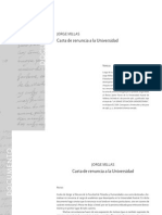 Carta de Renuncia a La Universidad (Jorge Millas)