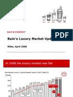 Luxury Market Update April 2009