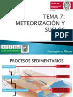 7 y 8. METEORIZACION Y SUELOS-GEOMORFOLOGÍA