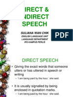 Direct & Indirect Speechett
