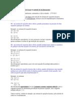 Método de eliminação de Gauss ou método do escalonamento