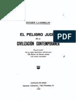 El Peligro Judío en la Civilización Contemporánea - Roger Lambelin (Leer)