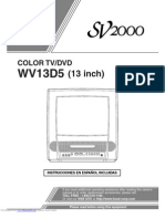 Funai Sv2000 Wv13d5 TV User Manual