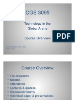 1-1. CGS 3095 - Course Overview