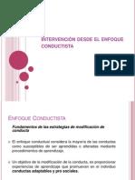 Intervencion Desde Enfoque Conductista