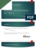 Conceptos Taller 4 - Técnicas de Podcasting