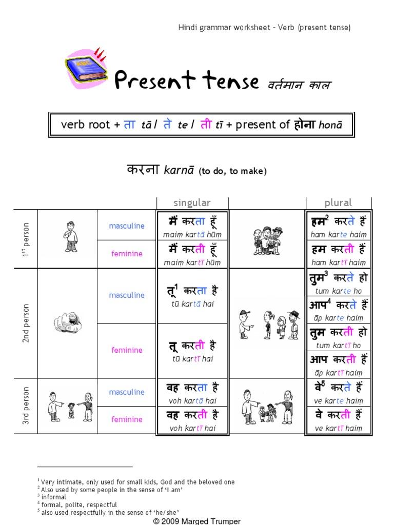 time and tense in hindi pdf