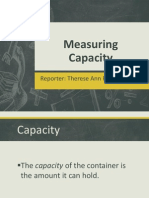 Measuring Capacity (Therese)