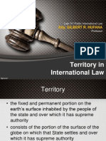 Lecture 04 Territory in International Law