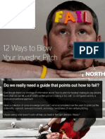 FAIL_12 Ways to Blow Your Investor Pitch
