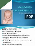 BLOK 15 (Vestibular Disorder) New