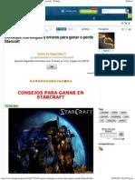 Consejos, Estrategias y Errores Para Ganar o Perde Starcraft - Taringa!
