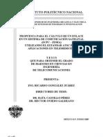 Propuesta Para El Calculo de Un Enlace en Un Sistema de Comunicacion Satelital (SCPC-FDMA)