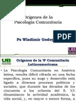 Clase 2 Origenes de la Ps. Comunitaria América Latina