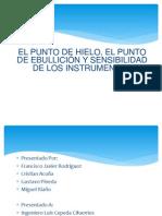 EL PUNTO HIELO Y EL PUNTO DE EBULLICIÓN