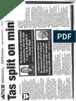 Shree Mine in Koori Mail. (newspaper)
