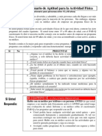 PAR-Q Cuestionario de Aptitud para la Actividad Física