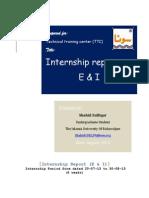 Internship Report Electrical Department FFC-MM