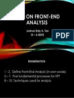 Front-End Analysis Tan Joshua Erdy Quiz