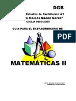 GUIA PARA EXTRAORDINARIO DE MATEMÁTICAS II